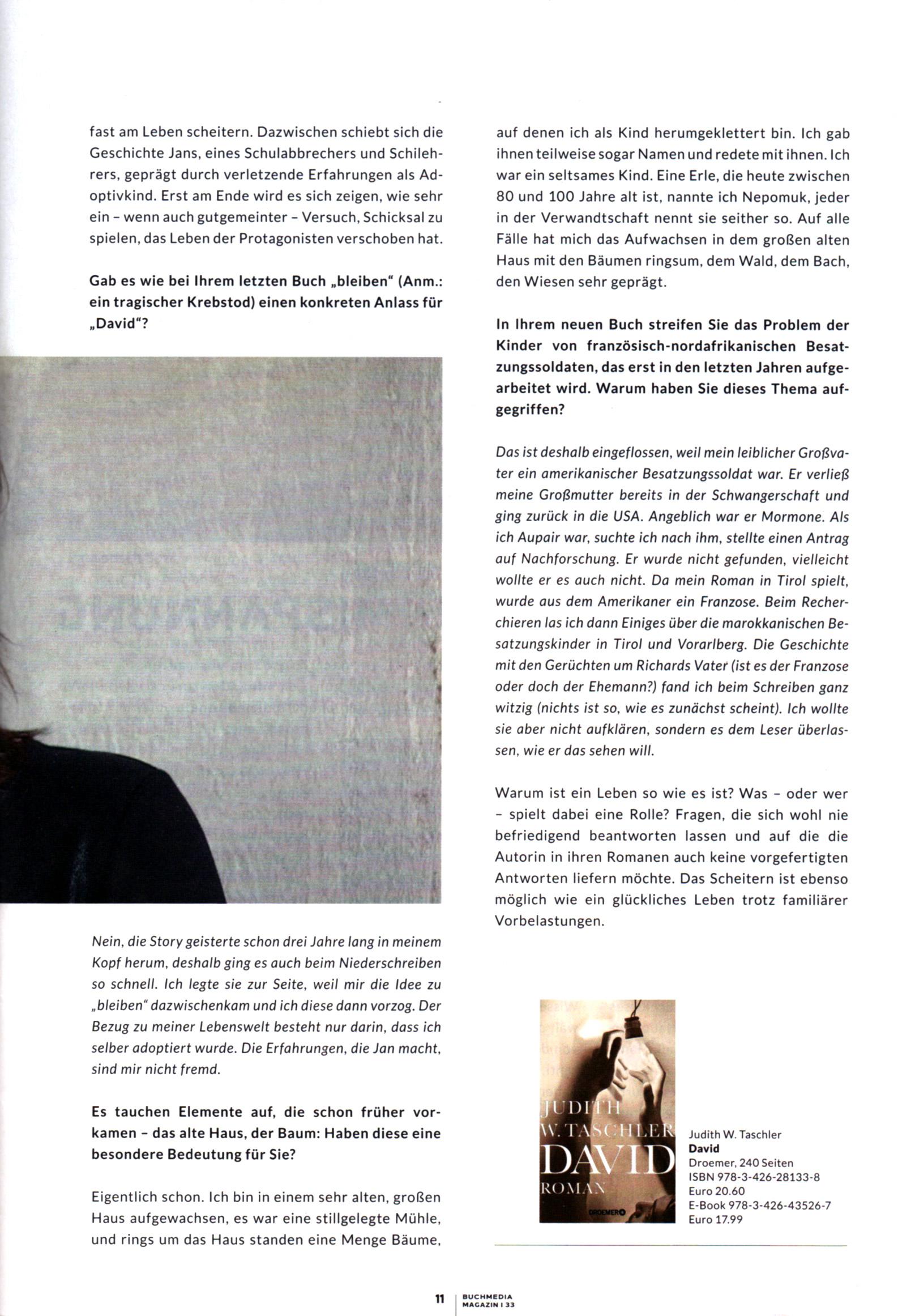 Buchmagazin Judith W Taschler